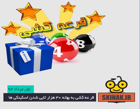 اسامی برندگان قرعه کشی تیر ماه اسکینک