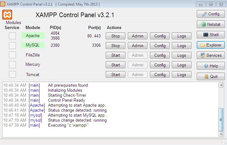 نصب اسکریپت و اجرای PHP در کامیپوتر با XAMPP