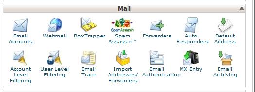 4-در صفحه جدید طبق عکس زیر بر روی Email Accounts کلیک کنید :