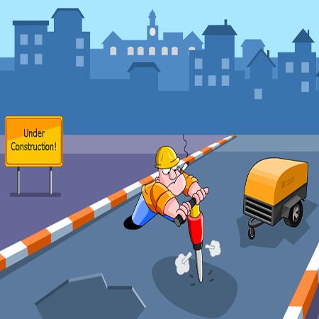 قالب آفلاین شماره 4 طرح  انیمشنی جاده در حال احداث