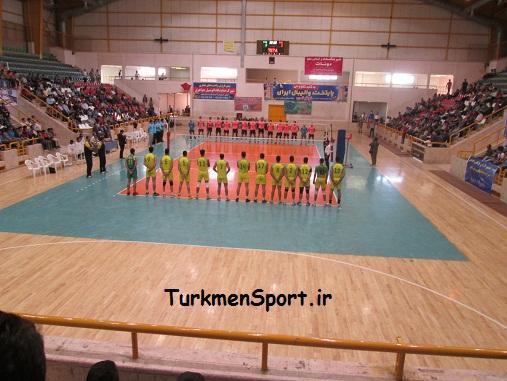 برتری قاطع تیم والیبال تعاون گنبد مقابل کاله جوان آمل + گزارش تصویری