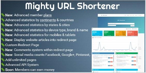 اسکریپت کوتاه کننده لینک Mighty URL Shortener V.1.1.0