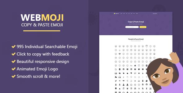 دانلود اسکریپت حرفه ای شکلک WebMoji