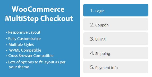 پرداخت چند مرحله ای با افزونه ووکامرس WooCommerce MultiStep Checkout Wizard