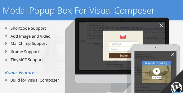 افزونه Modal Popup Box برای افزونه ویژوال کامپوزر