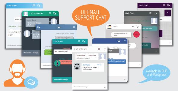 اسکریپت چت و پشتیبانی آنلاین Ultimate Support Chat – PHP Live Chat
