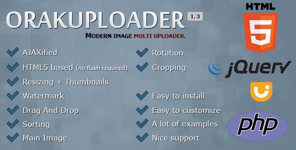 اسکریپت آپلود چندگانه عکس  OrakUploader v1.3