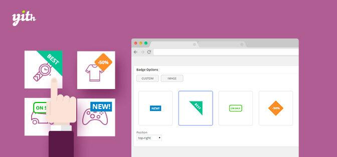 افزونه علامت گذاری محصولات در ووکامرس YITH WooCommerce Badge Management v1.2.22