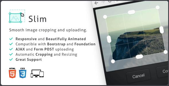 دانلود اسکریپت آپلود و برش تصاویر بر پایه جاوا اسکریپت Slim v1.1.1