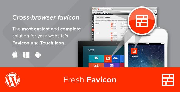 افزونه رایگان فاوآیکون برای وردپرس Fresh Favicon v1.1.2