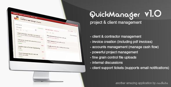 اسکریپت پشتیبانی و مدیریت پروژه QuickManager v1.1