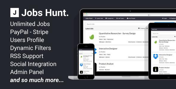 دانلود رایگان اسکریپت کاریابی Jobs Hunt v1.0.3