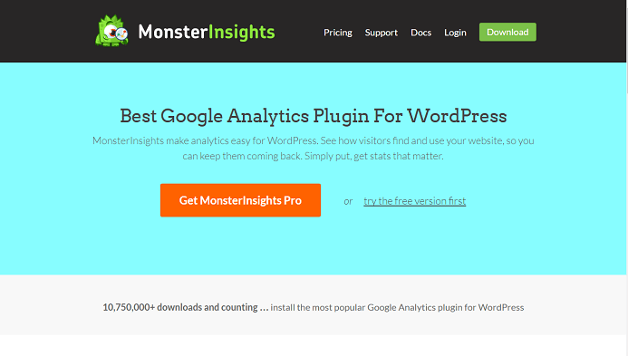 افزونه گوگل آنالیز  MonsterInsights Pro v5.5 برای وردپرس