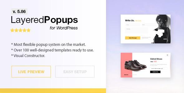افزونه حرفه ای  پاپ آپ وردپرس Layered Popups  v5.85