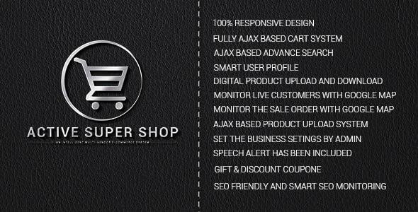 اسکریپت فروشگاه حرفه ای Active Super Shop  v1.3