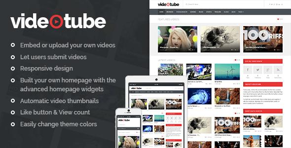 دانلود رایگان قالب اشتراک گذاری ویدیو برای وردپرس VideoTube v2.2.9