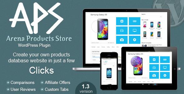 افزونه وردپرس فروشگاه ساز  Arena Products Store v2.4.1