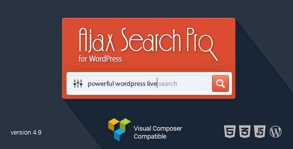 افزونه جستجوگر ایجکس وردپرس  Ajax Search Pro v4.9.8