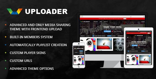 آپلود و اشتراک گذاری چند رسانه ای در ورپرس Uploader v2.2.1