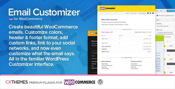 شخصی سازی ایمیل ها در ووکامرس Email Customizer v2.40