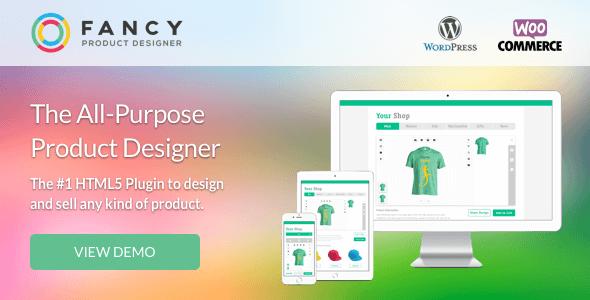افزونه طراحی محصول فانتزی وردپرس Fancy Product Designer v3.2.2
