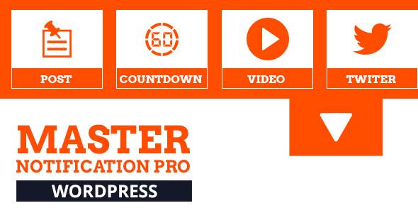 نمایش نوار اطلاع رسانی و اعلامیه در وردپرس  Master Notification Pro v1.0