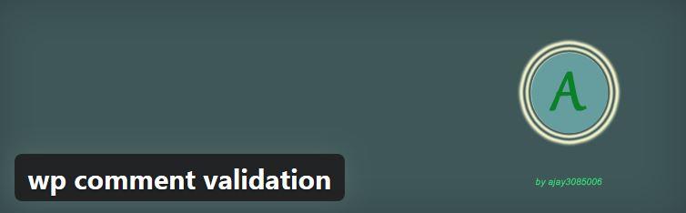 افزونه اعتبار سنجی نظرات(کنترل فیلد های نظرات) wp comment validation