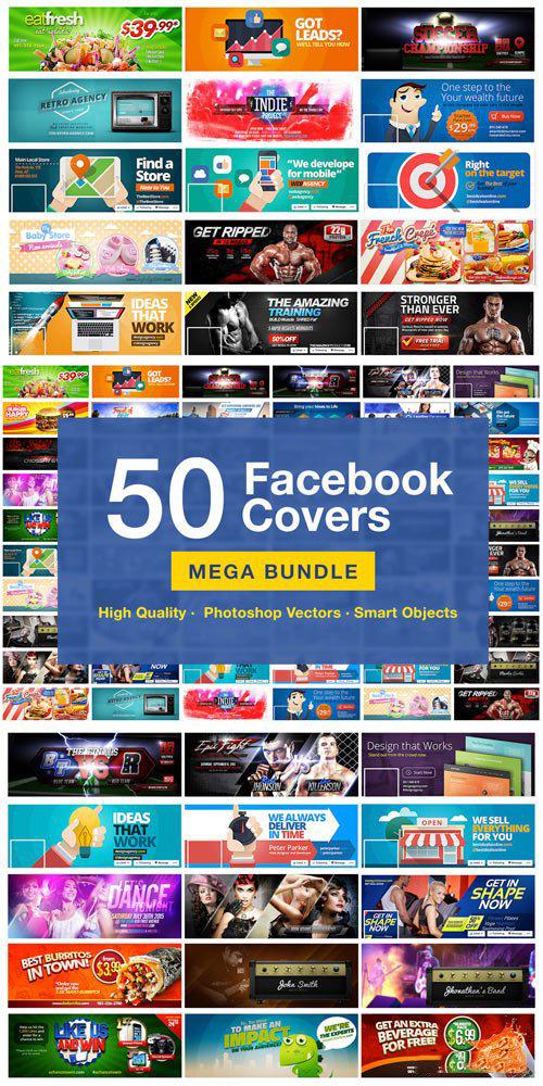 دانلود 50 کاور لایه باز فیسبوک حرفه ای