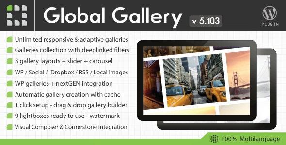 افزونه ساخت گالری در وردپرس Global Gallery v5.103
