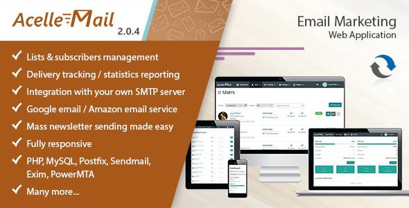 اسکریپت رایگان ایمیل مارکتینگ حرفه ای Acelle v2.0.4