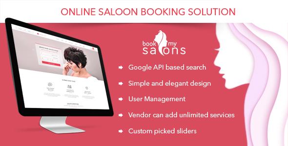 دانلود رایگان اسکریپت آرایشگاه و سالن زیبایی Book My Saloon v1.0.0
