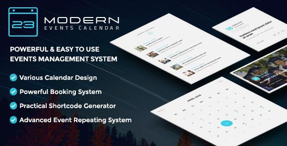 دانلود افزونه تقویم و رویداد وردپرس Modern Events Calendar v1.2.1