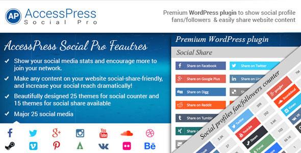 افزونه اشتراک گذاری مطالب وردپرس AccessPress Social Pro v1.3.1