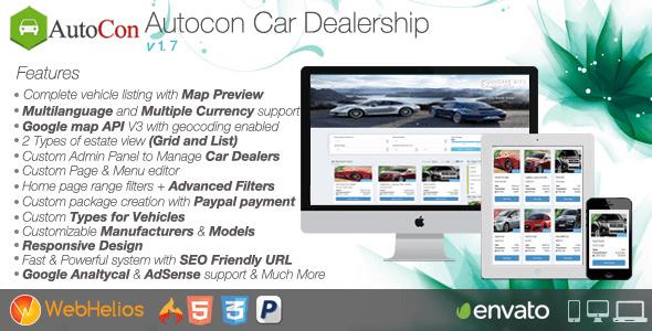 دانلود اسکریپت راه اندازی سایت خرید و فروش ماشین Autocon v1.7