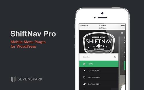افزونه منوی ریسپانسیو برای موبایل  Shiftnav Pro v1.5.1