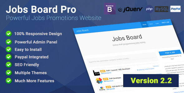 دانلود اسکریپت حرفه ای کاریابی Jobs Board Pro v2.2