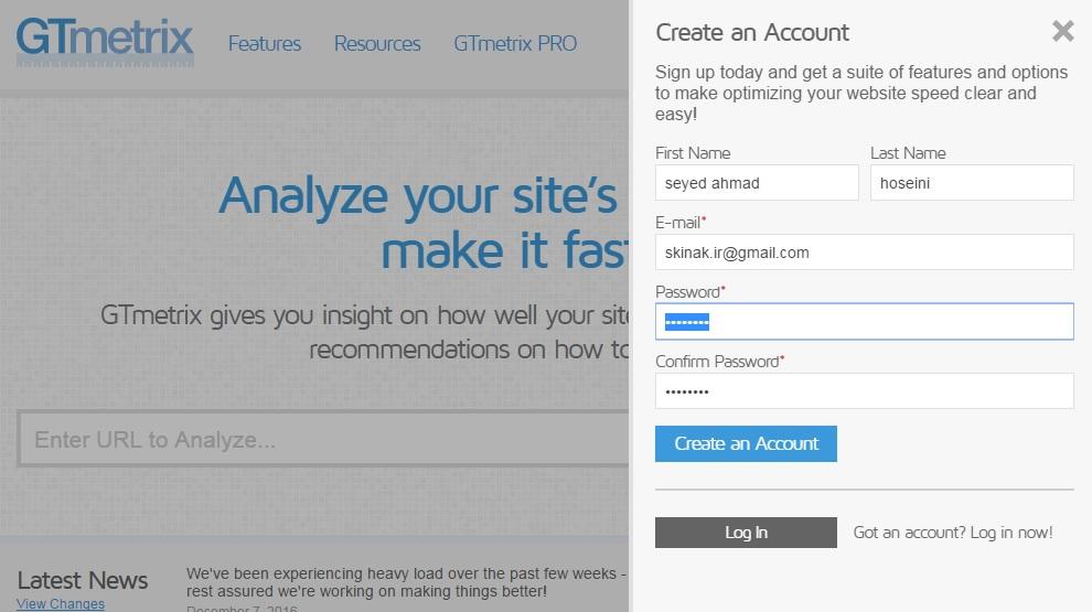 در این مرحله یک صفحه برای شما باز میشود که باید اطلاعات برای ثبت نام وارد کنید