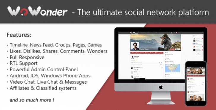 دانلو شبکه اجتماعی مثل تلگرام  WoWonder v1.4.3