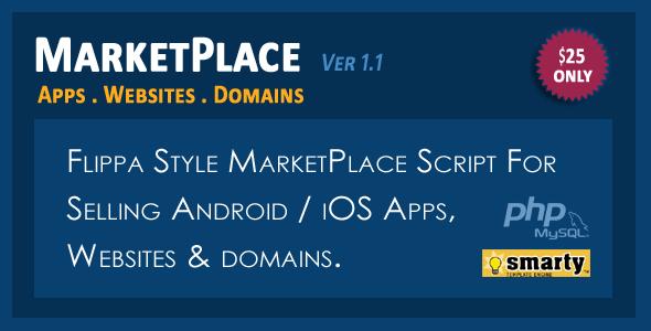 دانلود اسکریپت فروش دامنه و سایت و اپلیکیشن موبایل  MarketPlace v1.0