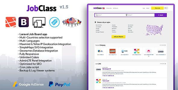 دانلود اسکریپت کاریابی  JobClass v1.5