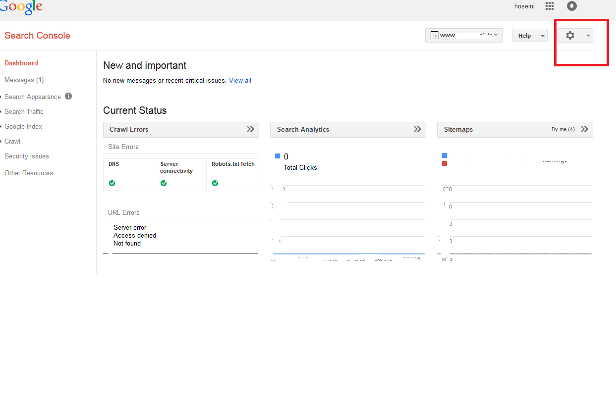 اضافه کردن  کاربر به گوگل وبمستر تولز Users & Site Owners
